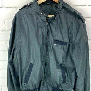 Members Only Men's 46 Black 80's Jacket Vintage